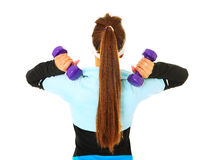 Shoulder exercise Stock Photo