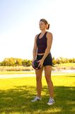 Shoulder exercises Stock Image