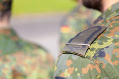 Shoulder from a german corporal soldier Stock Photo