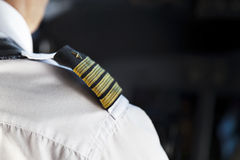 Shoulder Golden Pilot Badge. Detail Stock Images