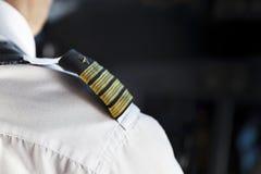Shoulder Golden Pilot Badge Stock Images