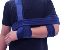 Shoulder immobilizer color icon. Sling and swathe. Broken arm, shoulder injury treatment. Arm fix brace royalty free stock photo