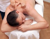 Shoulder massage Stock Photo