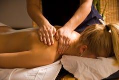Shoulder massage Stock Photos