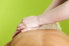 Shoulder massage Royalty Free Stock Images
