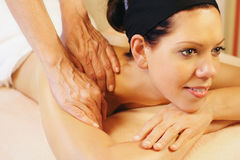 Shoulder massage Stock Photography