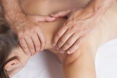 Shoulder massage Royalty Free Stock Image
