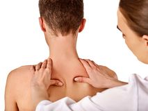 Shoulder and neck massage for wman in spa salon. Stock Images