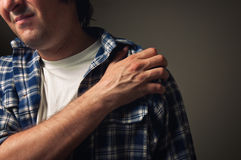 Shoulder pain Stock Image
