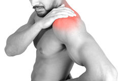 Shoulder pain Stock Photography