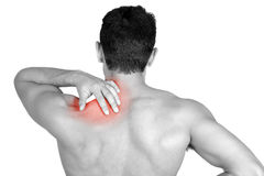 Shoulder pain Stock Photo