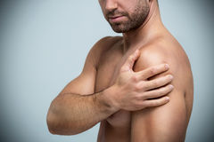 Shoulder in pain Royalty Free Stock Photos