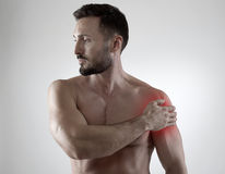 Shoulder pain Stock Images