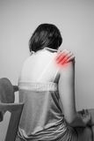 Shoulder painful Stock Images