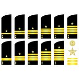 Shoulder patches employees of the Russian Navy Stock Image