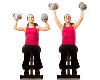 Shoulder Press Royalty Free Stock Photos