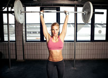 Shoulder Press Fitness Exercise stock photography
