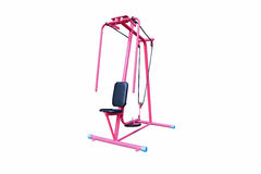 Shoulder press machine i. Solated on white background Royalty Free Stock Image