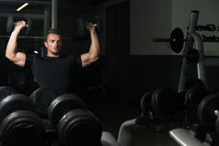 Shoulder Press Workout Royalty Free Stock Photography