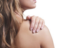 Shoulder rub Stock Images