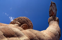 Shoulder Stone. Portion of statue in Guanuajato, Mexico royalty free stock photo