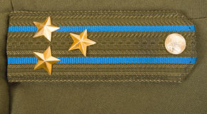 Shoulder strap. Colonel of the Russian Airborne Troops royalty free stock photos