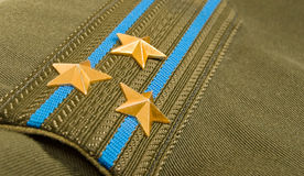 Shoulder strap. Colonel of the Russian Airborne Troops stock photos
