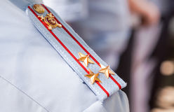 Shoulder strap colonel of the russian police Royalty Free Stock Photography