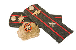 Shoulder strap of russian army. On white background royalty free stock images