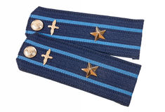 Shoulder strap of russian army. On white background stock photo