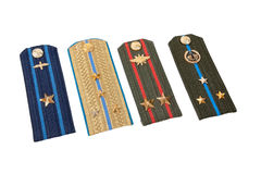 Shoulder strap of russian army Stock Photos