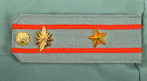 Shoulder strap of russian army officer Stock Photography