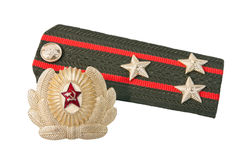 Shoulder strap of soviet army Royalty Free Stock Images