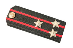 Shoulder strap of soviet army. On white background stock photos
