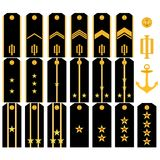 Shoulder straps of the Navy of the Russian Army Royalty Free Stock Photo