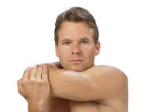 Shoulder stretch Stock Photography