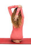 Shoulder stretch Royalty Free Stock Images
