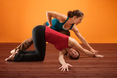 Shoulder Stretching Royalty Free Stock Photos