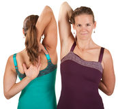 Shoulder Stretching Exercise Royalty Free Stock Images