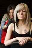 Shoulder tattoo Royalty Free Stock Photo