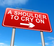 A shoulder to cry on. Stock Photography