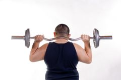 Shoulder weights Stock Photo