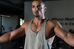 Shoulder Workout Royalty Free Stock Images