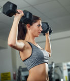 Shoulder workout with dumbbell Royalty Free Stock Images
