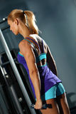 Shoulder workout Stock Photo