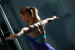 Shoulder workout Stock Photography