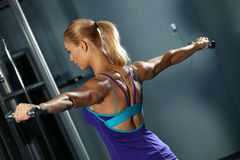 Shoulder workout Royalty Free Stock Image