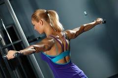 Shoulder workout Royalty Free Stock Image