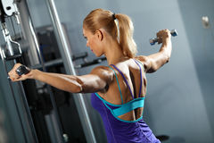 Shoulder workout Stock Images