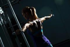 Shoulder workout Stock Photos